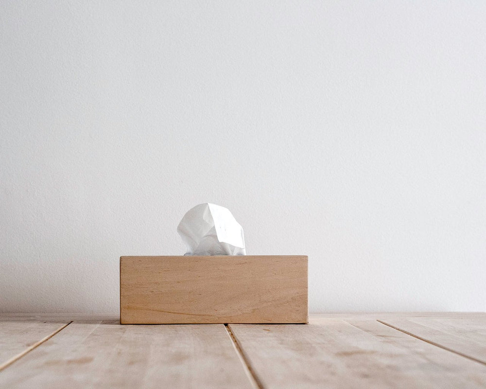 Wooden Simple Tissue Box Cover // Alder // MInimalist, Rustic, Natural Kleenex Box with Free Shipping Worldwide
