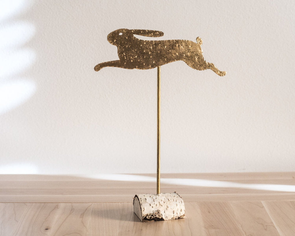 Primitive Metal Rabbit Decor // Running Hare by Atelier Article