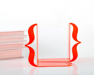 Metal Bookends Red Brackets by Article