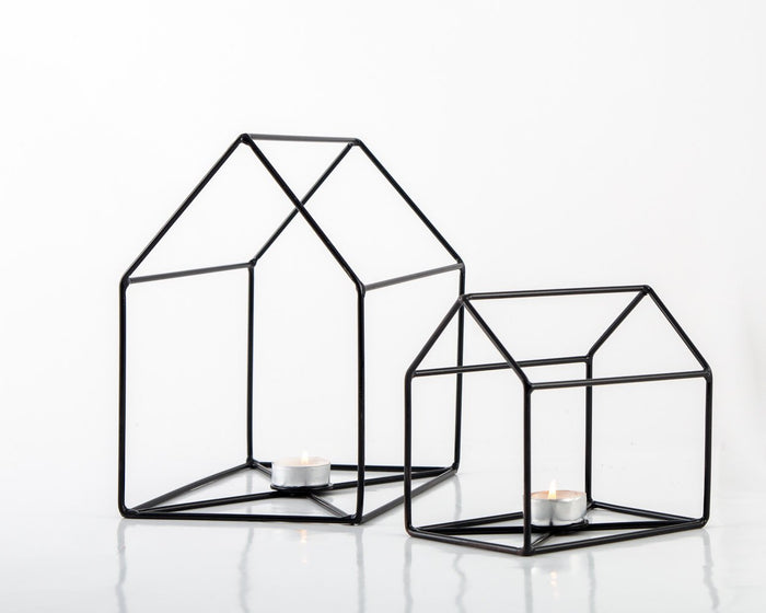 Wire House Candle Holders Lanterns by Atelier Article Unique Handmade