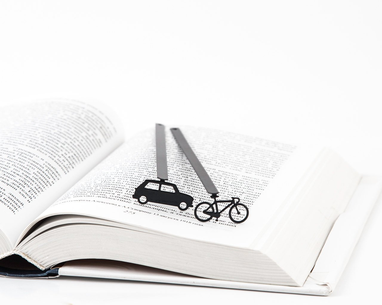 Bookmark Bicycle laser cut metal powder coated black Stylish unique gift for book lover Free shipping. - Design Atelier Article