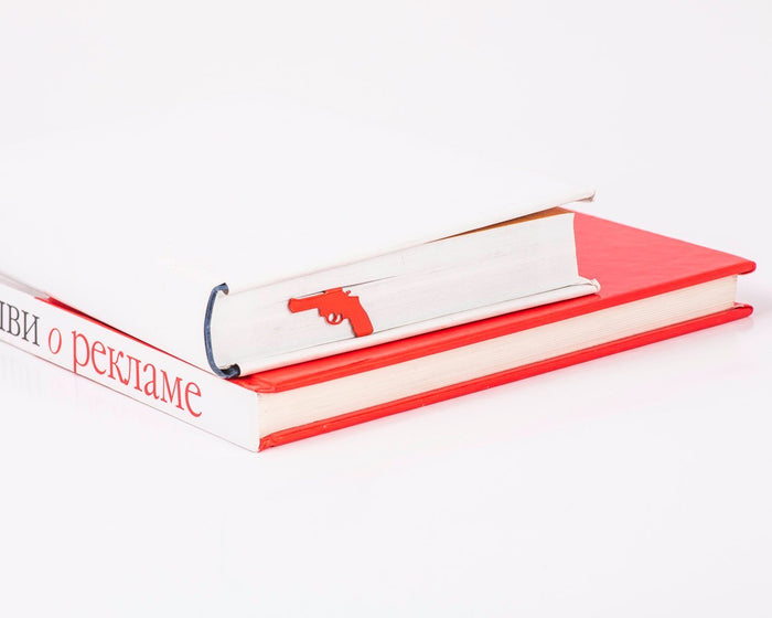 Unique Metal Book Bookmark Gun // Present for book lover // bookworm // unique gift packaging ready to give // Free shipping worldwide