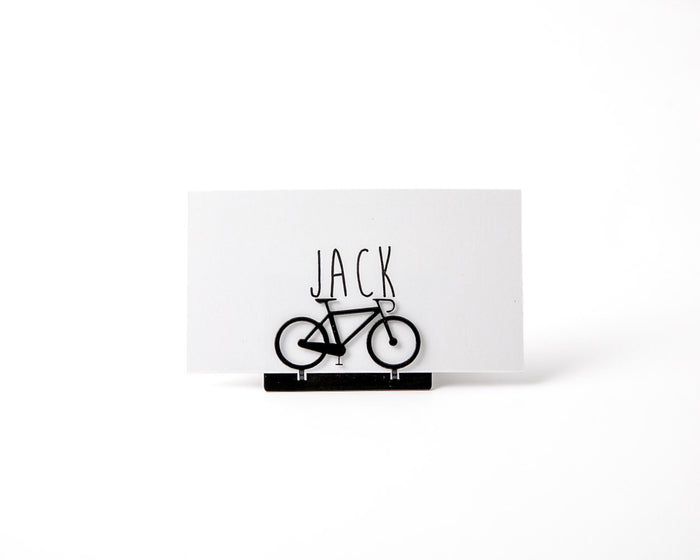 Bicycle Metal Place or business card holder for your wedding or any theme party - Design Atelier Article