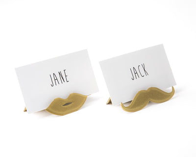 Place or business card holder for your wedding or any theme party Moustache and lips