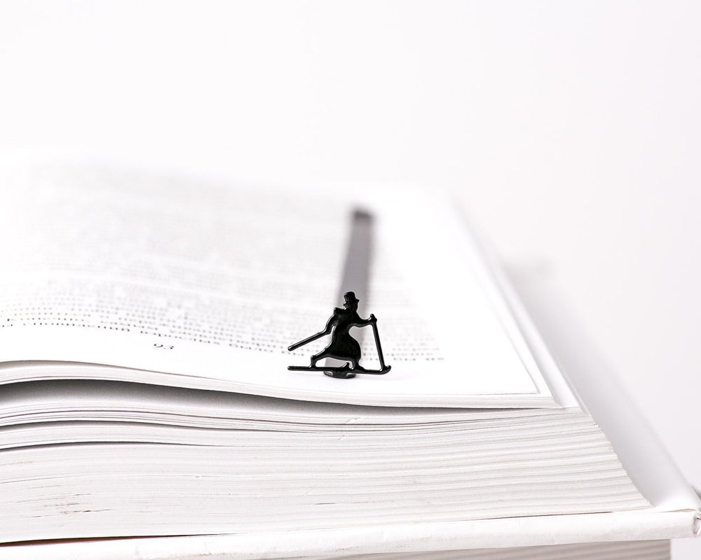 Metal Bookmark for books // High Hat Skier // - Design Atelier Article