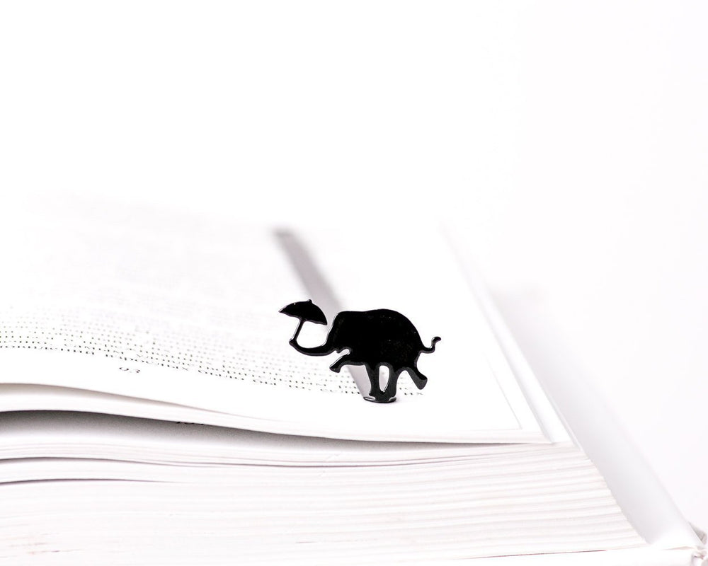 Metal Bookmark Dancing elephant // Free shipping - Design Atelier Article