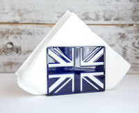 Napkin holder UK // Deep blue // laser cut metal // housewarming gift // Napkin holder ideas