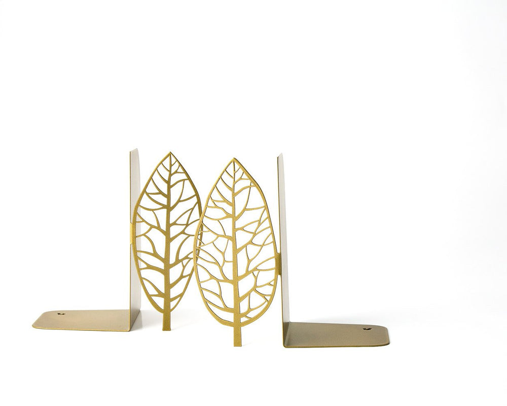 Metal Bookends Golden edition Trees //functional decor for modern home // housewarming / christmas gift // FREE SHIPPING WORLDWIDE - Design Atelier Article