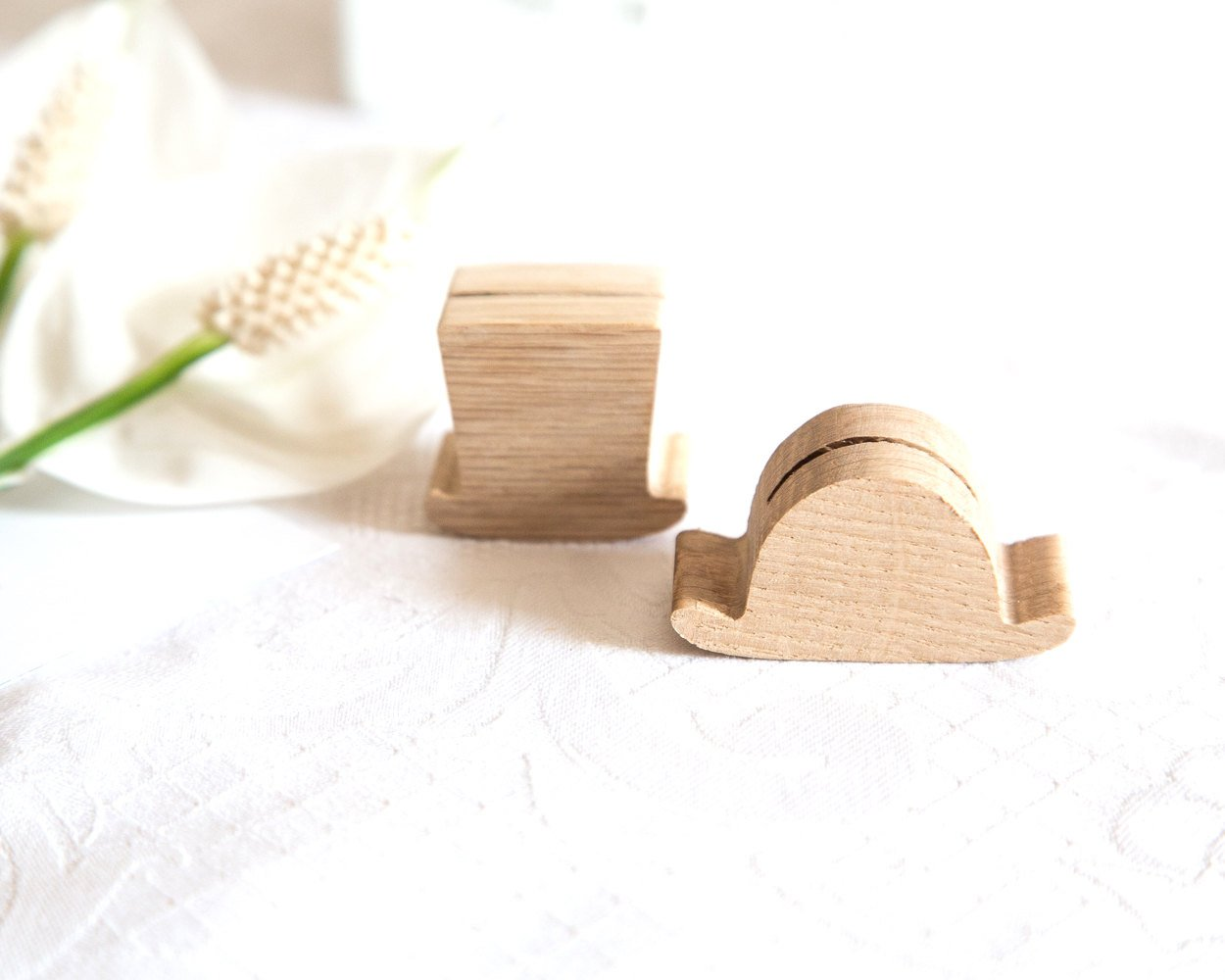 Rustic Place or business card holder SET of 30 for your wedding or any theme party hat bowler high hat salvaged wood