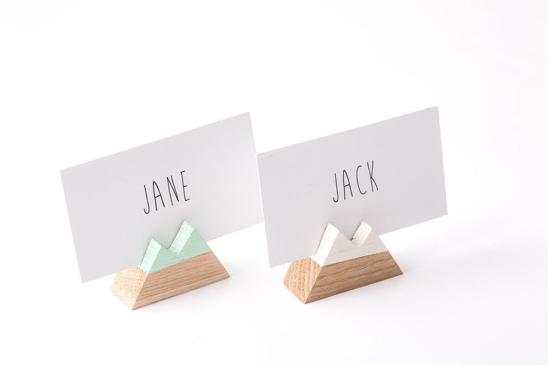 Name Card Holders Mountain // Wooden Place card holders // Set of 30