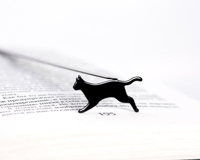 Metal Bookmark for books Running Cat by Atelier Article - Design Atelier Article