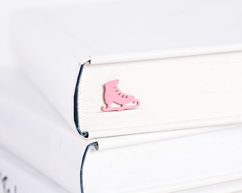 Metal Book Bookmark // Ice skates // Present for book lover - Design Atelier Article