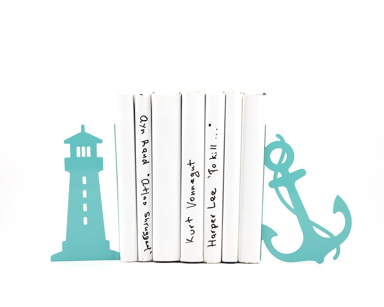 Metal Bookends Light house and anchor sea theme nursery // beach house // FREE SHIPPING - Design Atelier Article