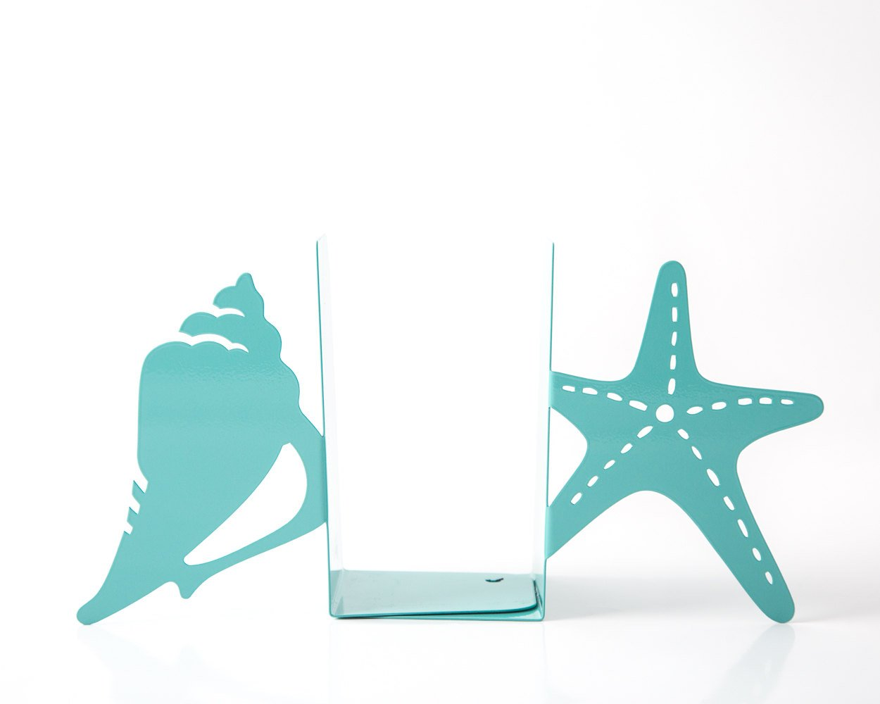 Unique Bookends // Seashell and Starfish // for Beach House // Decorative book holders // sea nursery theme // Free Shipping Worldwide