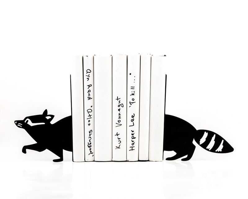 Nursery Bookends - Reading Racoon- // functional decor for modern home // housewarming // christmas new baby shower gift // FREE SHIPPING - Design Atelier Article