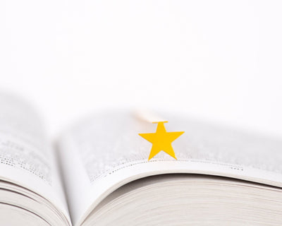 Metal Bookmark for Books // Yellow STAR by Atelier Article - Design Atelier Article