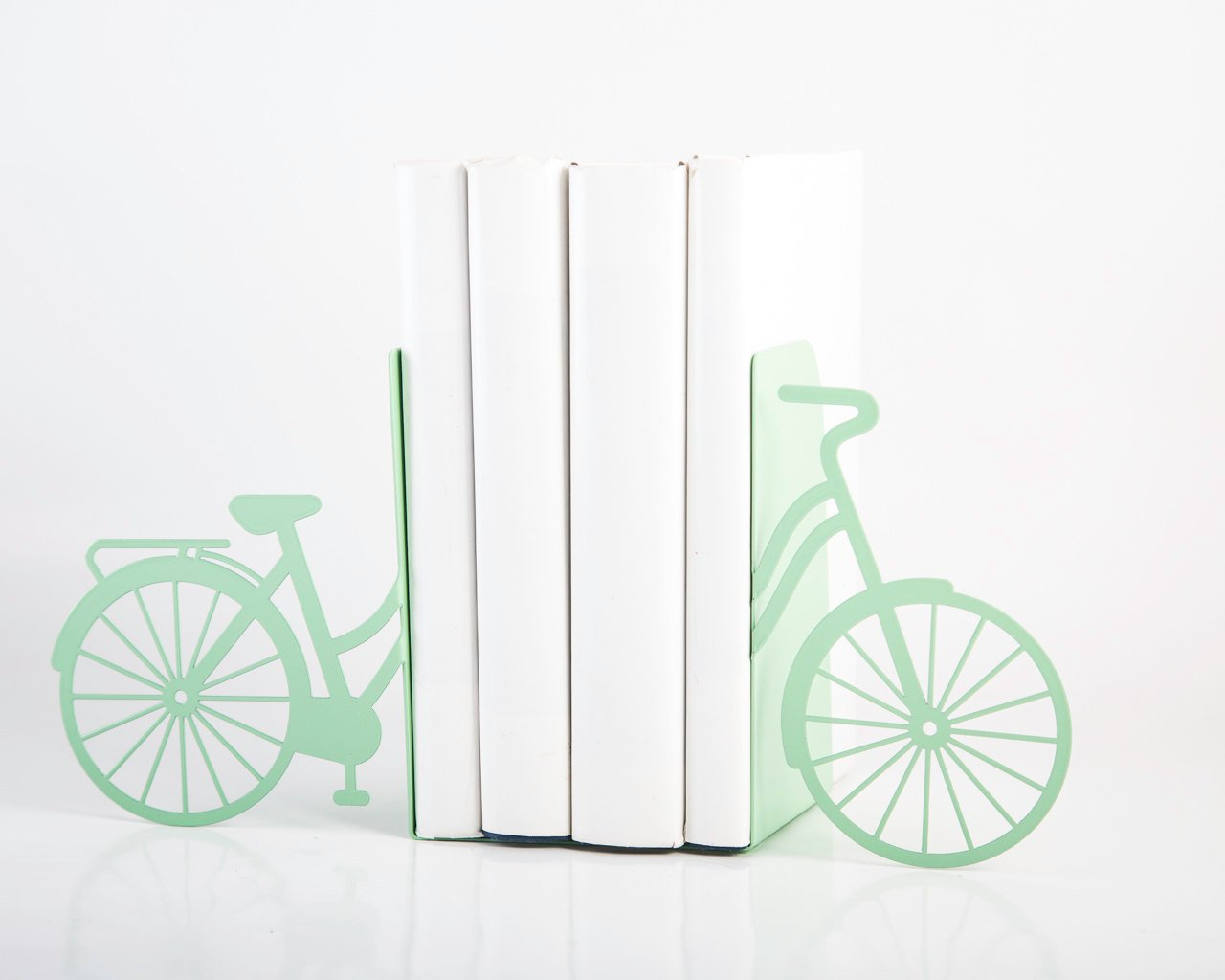 Unique Metal Bookends - My Mint Bike - // functional modern home decor // perfect housewarming present for a biker / FREE WORLDWIDE SHIPPING