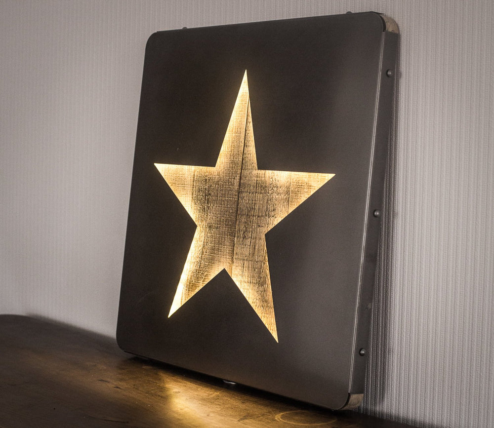 Large Wall Art LED Star Sign Industrialstyle by Atelier Article - Design Atelier Article