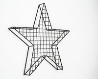 RockStar Star Wall Decor for Modern home Metal Star Shelf for a Display in a Modern Industrial Loft // Free Shipping Worldwide