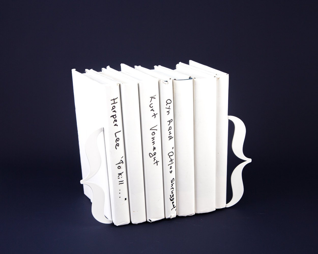 Bookish Bookends White Metal // curly braces // brackets // Perfect Nerdy Chic Housewarming Gift for a Reader // Free Shipping Worldwide