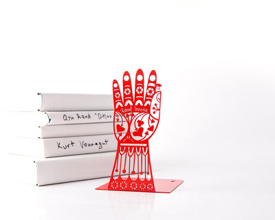 One bookend Tatoo hand Read books hand FREE SHIPPING functional decor for your considered home - Design Atelier Article