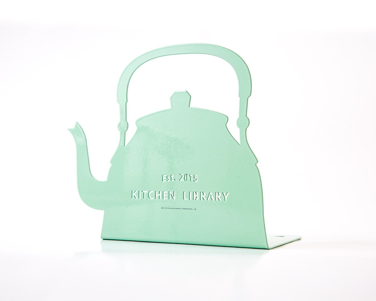 Bookend Kettle // decorative holder for your stylish kitchen library // artistic functional decor for kitchen bookshelf // FREE SHIPPING - Design Atelier Article