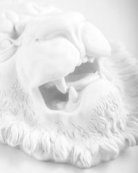 Lion Plaster Head // Wall decor // Traditional Ancient Sculpture Replicated in Our Workshop // Free Shipping - Design Atelier Article