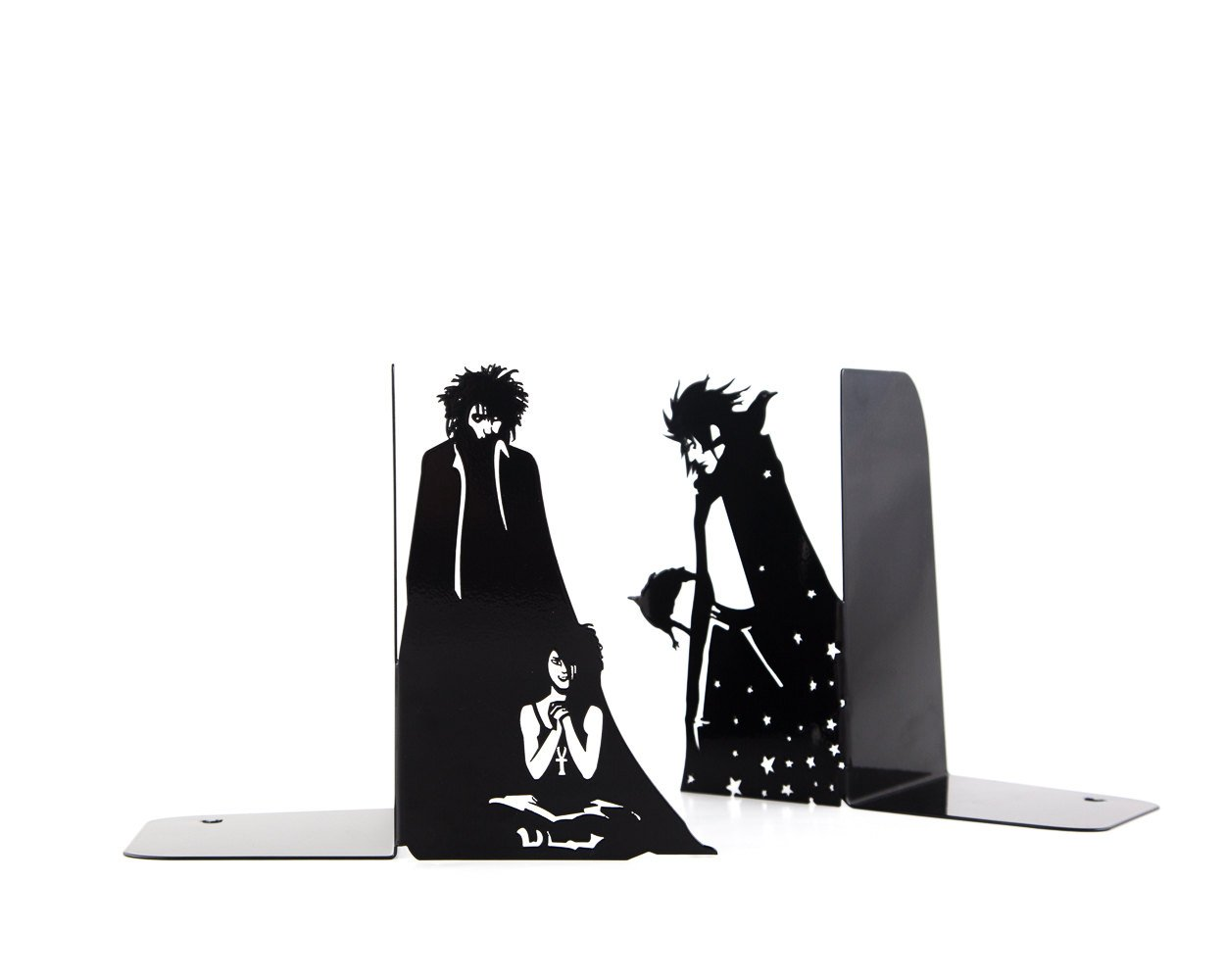 Metal Bookends Sandman for Comics Fans // Book holders Sandman For Your Child's Favorite Books and Comics // Free Shipping Worldwide - Design Atelier Article