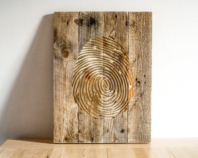 Fingerprint  Wall Art // Carved Wooden Wall Hanging for a Modern home by Atelier Article - Design Atelier Article