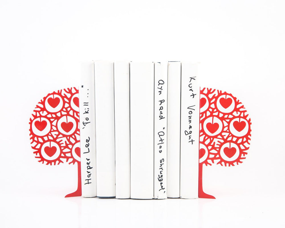 Decorative Metal Bookends - Danish heart tree- by Atelier Article - Design Atelier Article