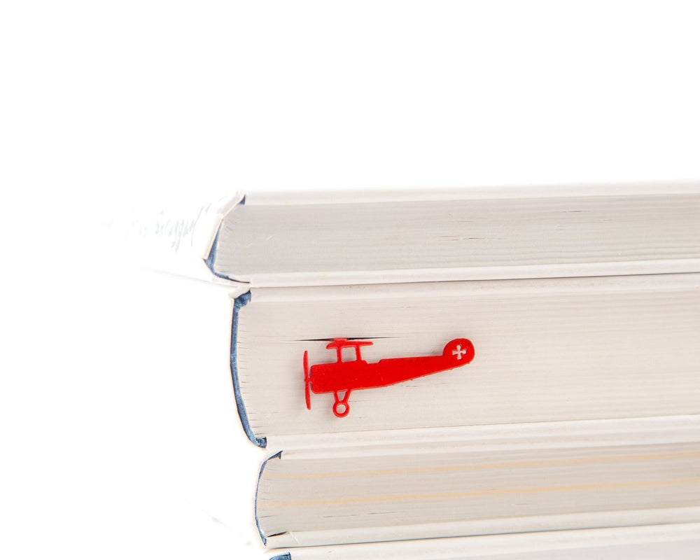 Metal Book Bookmark Red Biplane by Atelier Article - Design Atelier Article