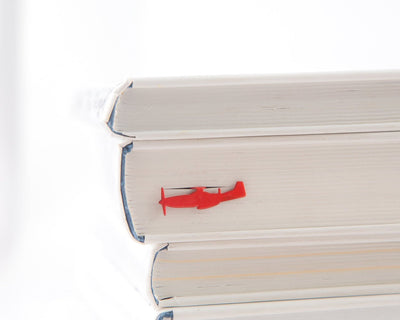 Metal Book Bookmark Red Fighter Plane by Atelier Article - Design Atelier Article