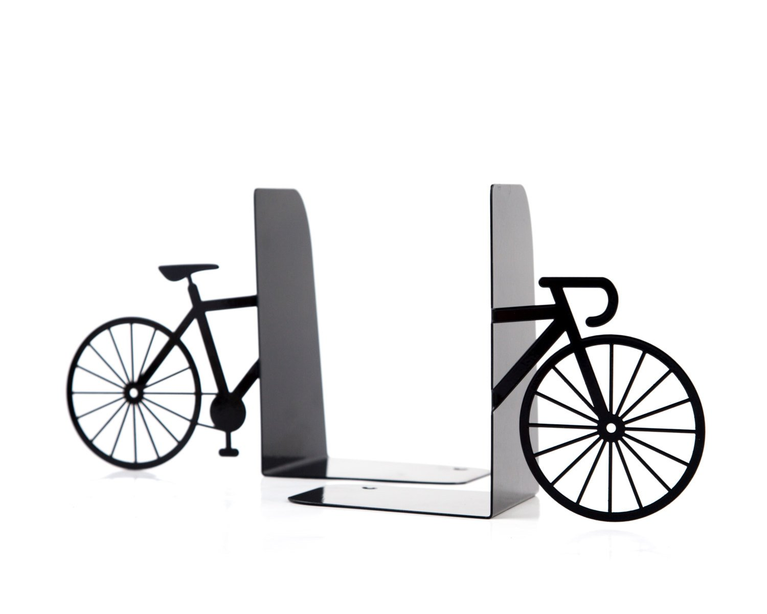 Unique Metal Bookends - My bike - shelf decor // functional modern home decor // housewarming gift / decorative book holders / FREE SHIPPING