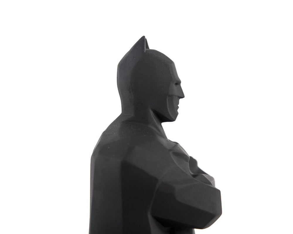 Batman Statue // Geometric decor for modern home // Dark knight decor Gotham city - Design Atelier Article