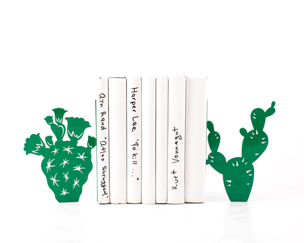 Sale 30% OFF Metal Bookends Cactuses // housewarming gift // bookshelf decor // FREE SHIPPING