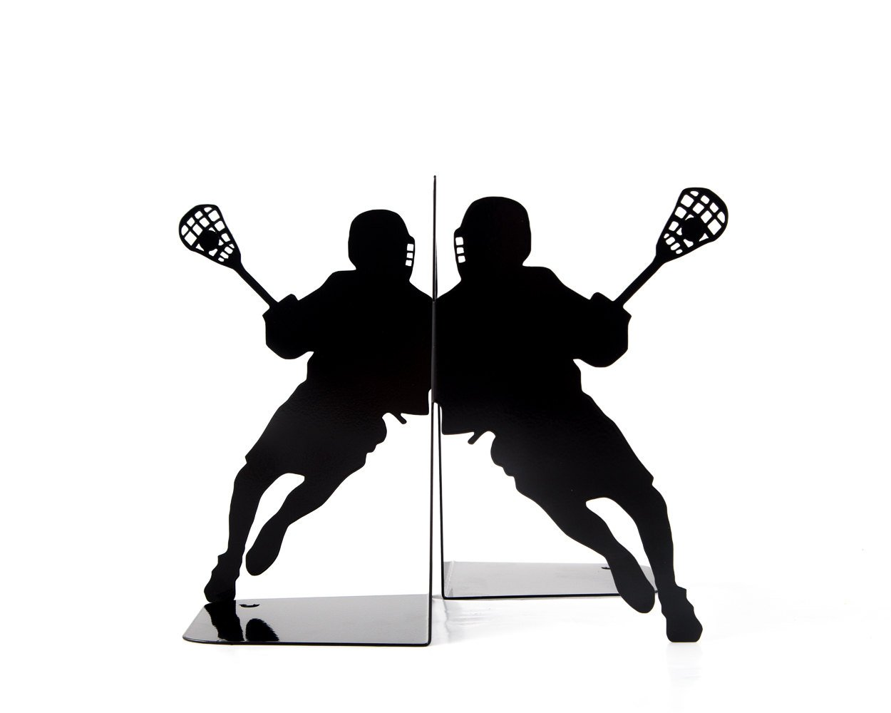 Metal bookends - Lacrosse - sports inspired bookends // modern home functional decor // housewarming gift for an athlete // FREE SHIPPING // - Design Atelier Article
