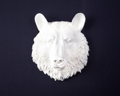Faux Taxidermy Bear head // Trendy modern home wall decor by Atelier Article