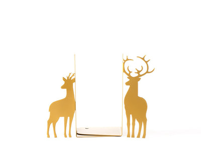 Metal Bookends - Deer Couple - Christmas gift // nursery decor by Article