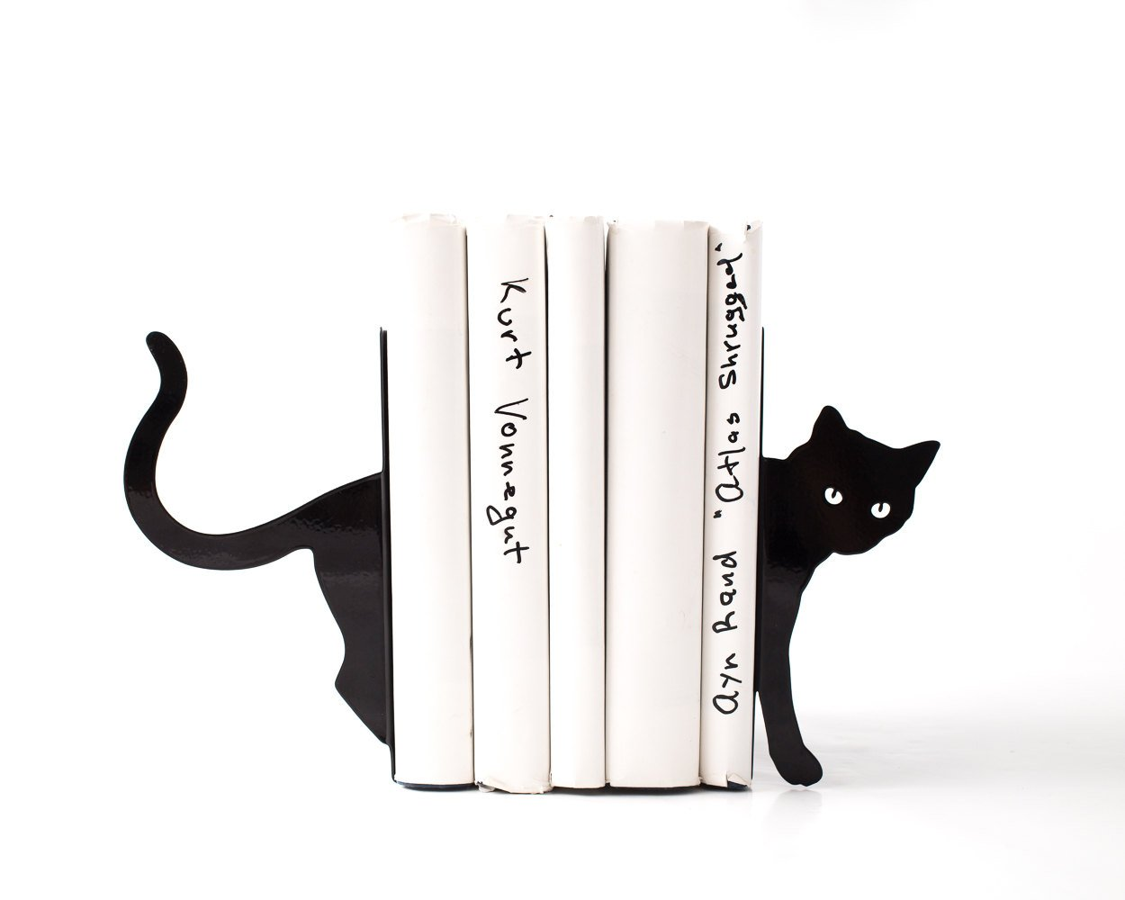 Decorative Bookends - Cat and books - functional decor modern home // decorative bookends for cat lover // book lover //  FREE SHIPPING - Design Atelier Article