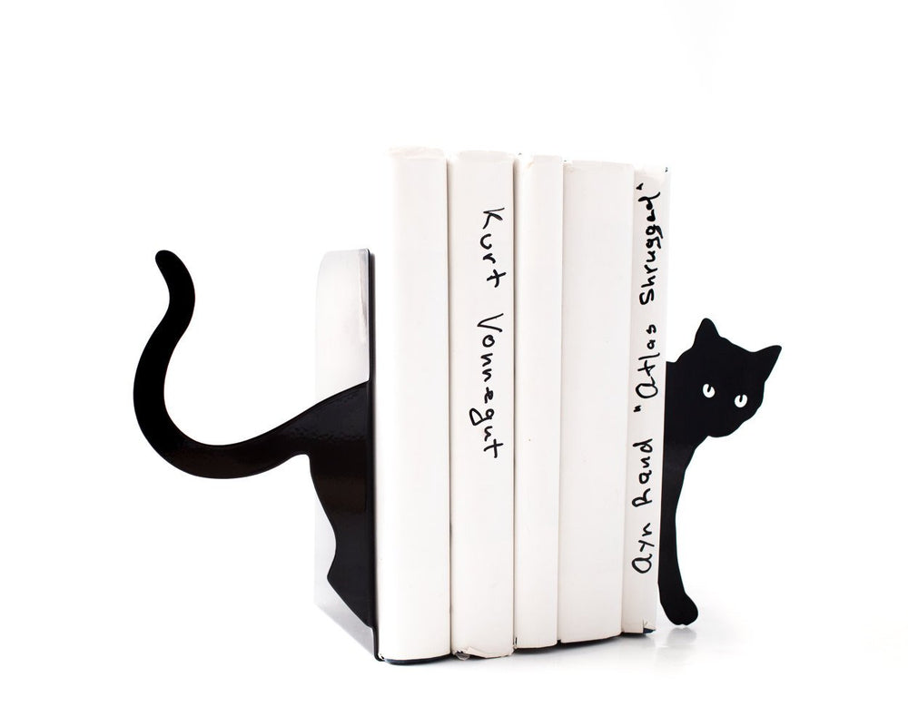 Decorative Bookends - Cat and books - by Atelier Article - Design Atelier Article