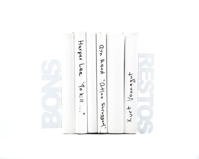 Metal Kitchen bookends - Bons Restos Good eats in French - by Article
