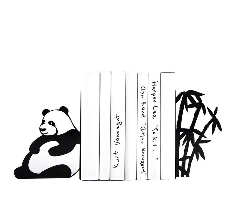 Unique bookends - Sitting Panda - // functional modern home decor // jungle nursery theme // Free shipping worldwide // housewarming gift