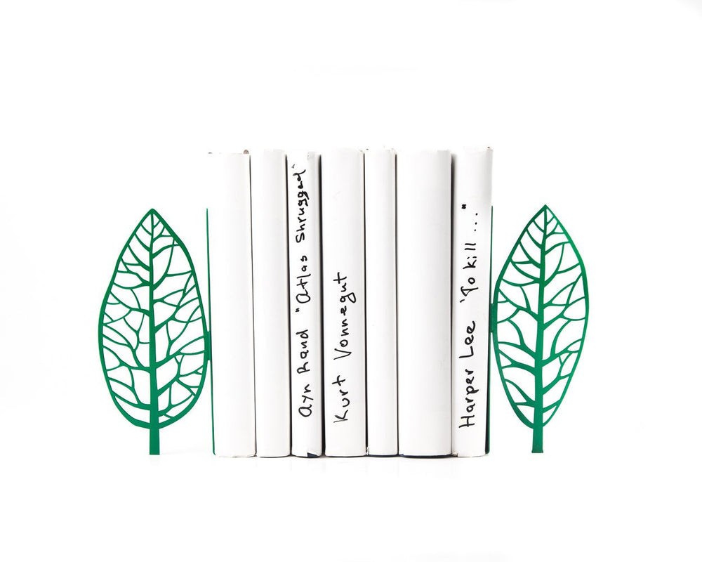 Tree Bookends // green edition - Magritte trees - // Unique artistic book holders // Magritte inspired bookends // FREE SHIPPING