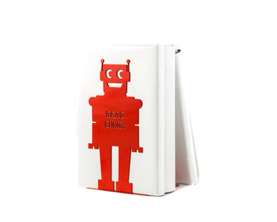Metal Bookend for kids room Robot // modern nursery home decor - Design Atelier Article