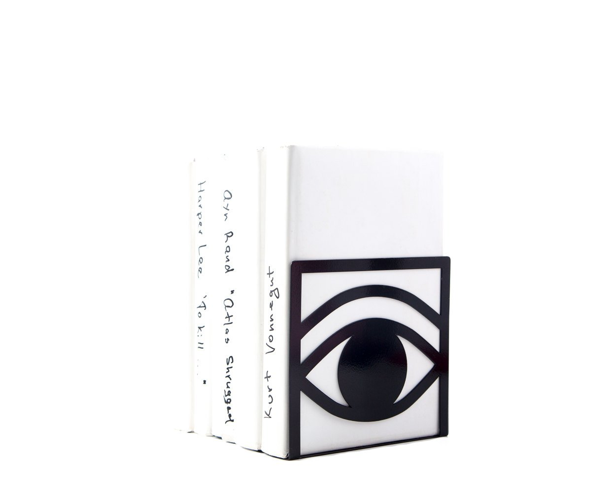 A pair of unique bookends Eys One Eye Closed One Eye opened // black // decorative book holder for modern home // FREE SHIPPING WORLDWIDE