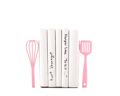 Unique metal Kitchen Bookends // Spatula and whisk // decorative holders // functional decor for your kitchen / modern home // FREE SHIPPING