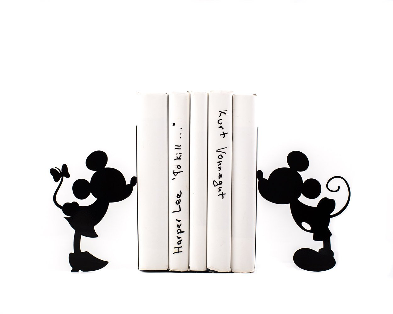 Children Bookends Mickey Mouse / Romantic / Disney inspired book holders for kids room / Functional decor for modern nursery / Free Shipping - Design Atelier Article