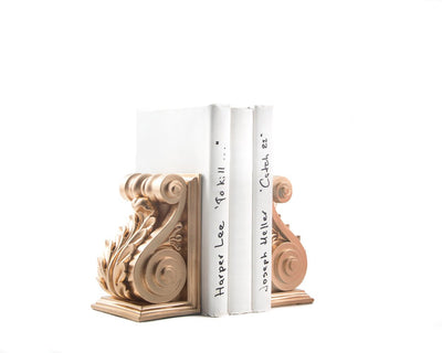 Plaster Bookends // Lucite Gold Plaster // Classical Acanthus Corbel Bookends // modern home decor // housewarming gift // FREE SHIPPING