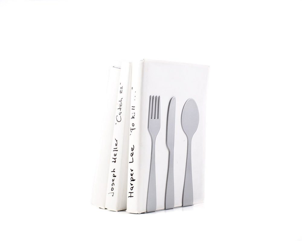 Metal Kitchen bookends // Silverware / Silver edition by Article