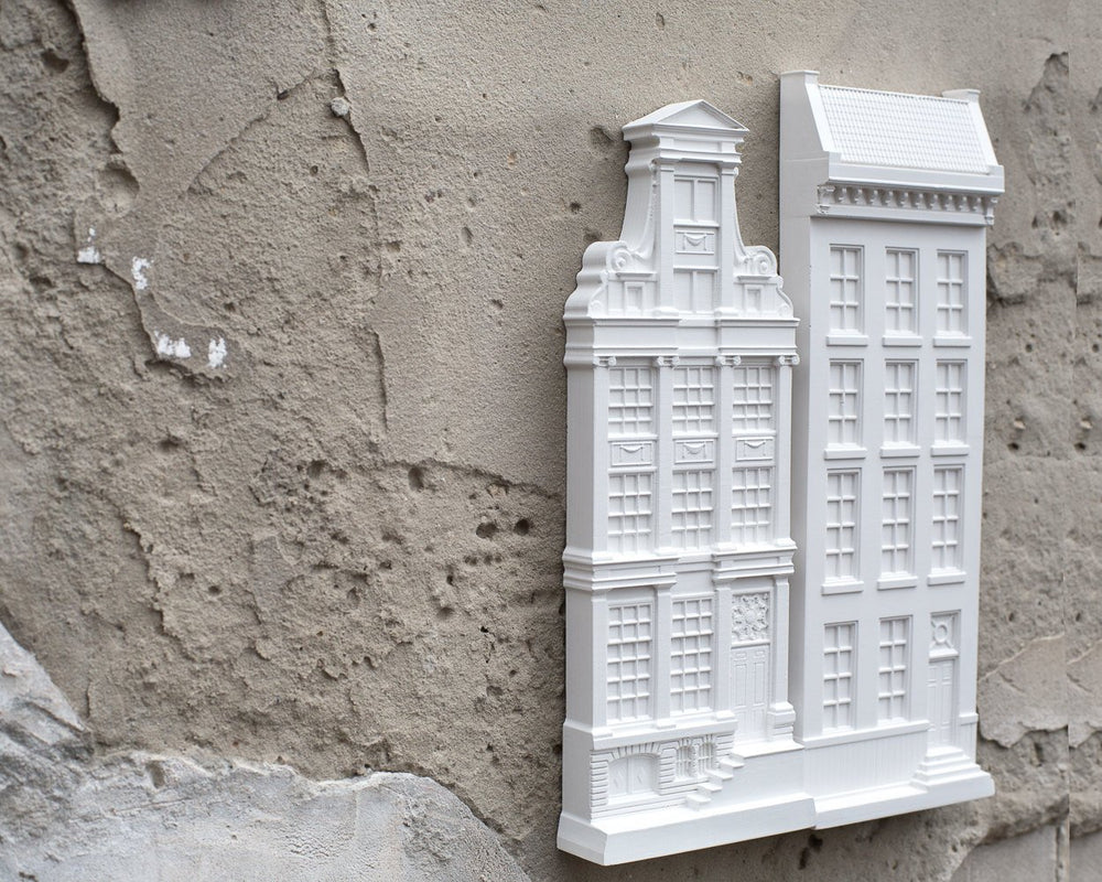Architectural Plaster Model Bas Relief Facade of a House